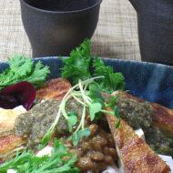豆腐とサラダ まるごと昆布ドレ