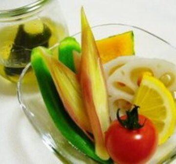 蒸し野菜~こんぶ&レモンダレ~