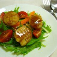焼きホタテのサラダ~こんぶのおしょうゆソース~
