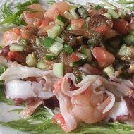 イタリアンティストとろろ昆布海の幸サラダ