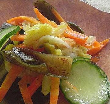 梅昆布と野菜の一夜漬け