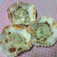 餃子の皮でとろろ昆布&納豆のチーズチン