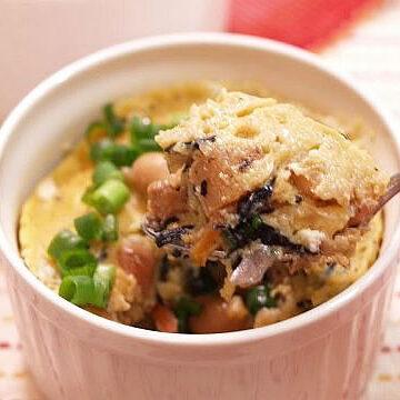 煮昆布のヘルシー山芋レンジ蒸しキッシュ