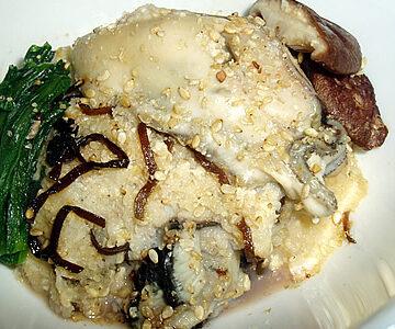 牡蠣のもちっと塩昆布蒸し
