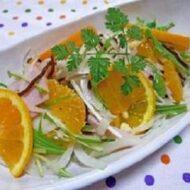 塩こんぶde~新玉ねぎと清見オレンジのマリネ