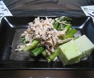 アスパラと鶏のひんやりサラダ