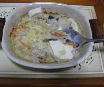 豆腐とツナのグラタン~昆布IN!