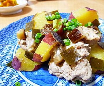 豚もも肉とサツマイモの煮物
