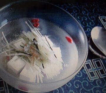 夏の冷製昆布スープ