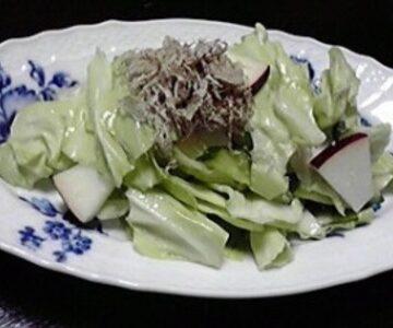 キャベツととろろ昆布の塩糀コールスローサラダ