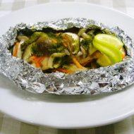 ~昆布バター~鮭と野菜のホイル焼き