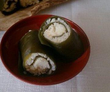 白ひえの昆布巻き寿司