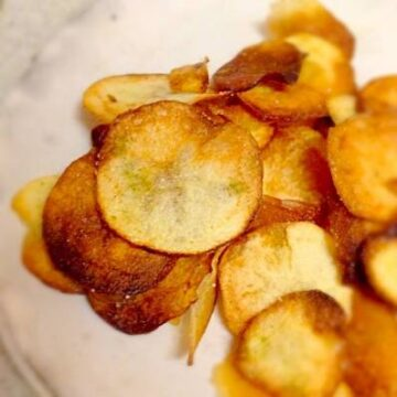 昆布で旨みたっぷり!手作りポテトチップス