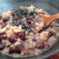 昆布水で炊く小豆粥のレシピ