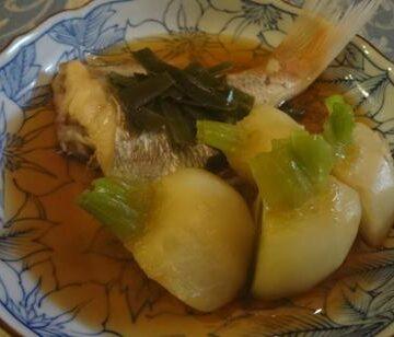 金目鯛と蕪の煮付け