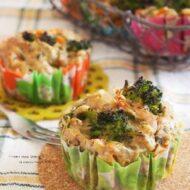 塩昆布入り☆野菜を食べる和風カップケーキ