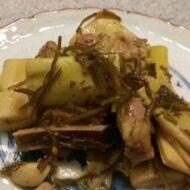 破竹と豚の簡単こっくり昆布煮