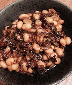 お豆と昆布の鉄火味噌