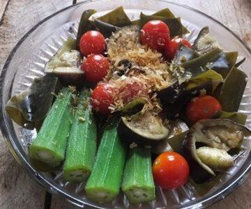 昆布と夏野菜の煮びたし