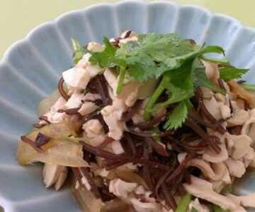 翠芹干絲(セロリと干豆腐の和え物)