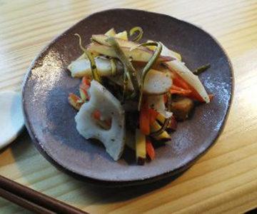 秋野菜のイタリアンきんぴら