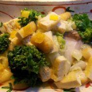昆布と白菜と磯魚の蒸し物