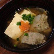 秋刀魚&昆布のつみれ汁