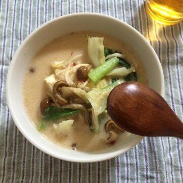 ポカポカあったか ピリ辛豆乳スープ